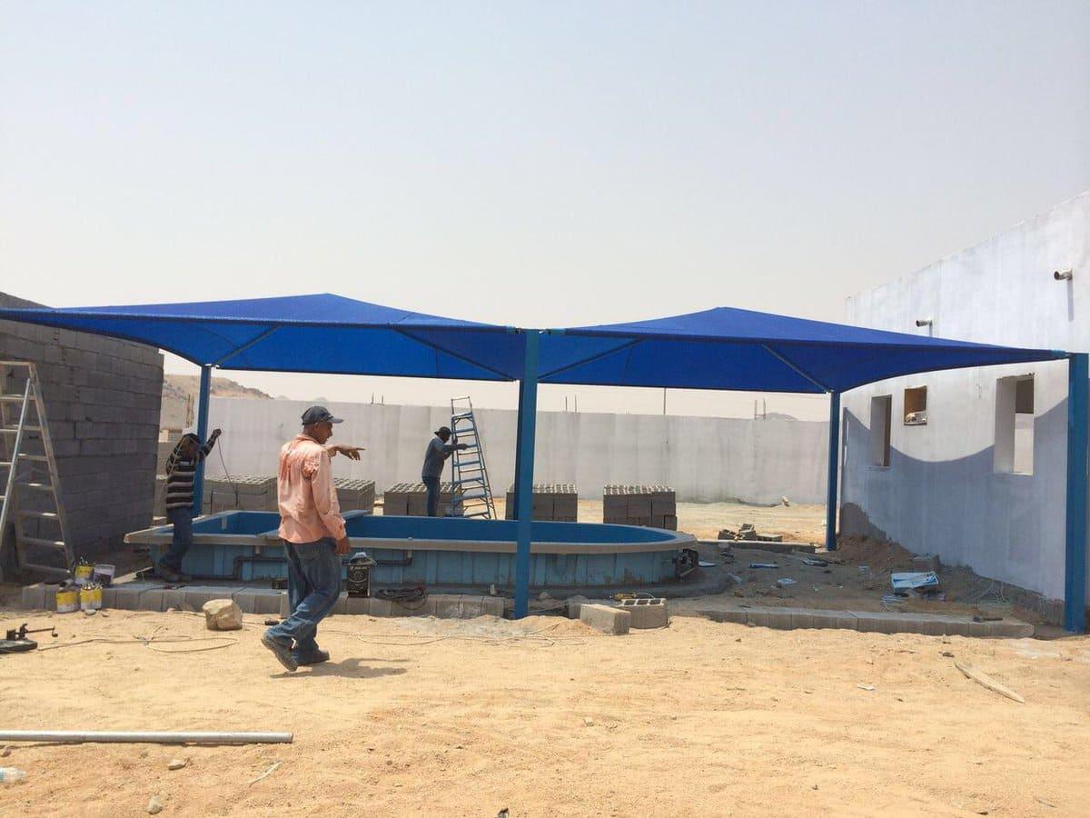 مظلات مسابح تركيب تغطية المسابح في مكة وجدة